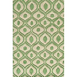 Momeni Bliss Green Waves Hand-Tufted Rug (5' X75'6)