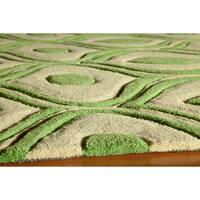 "Momeni Bliss Green Waves Hand-Tufted Rug - 5' x 7'6"""