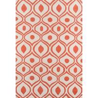 Momeni Bliss Orange Waves Hand-Tufted Rug - 2' x 3'