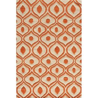 Momeni Bliss Orange Waves Hand-Tufted Rug - 8' x 10'