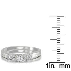 Marquee Jewels  10k White Gold 1/4ct TDW 2-Piece Diamond Ring Set (I-J, I1-I2)