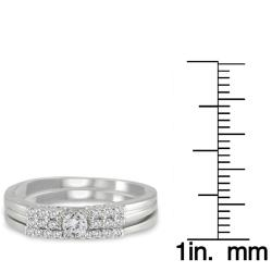 Marquee Jewels  10k White Gold 1/4ct TDW 2-Piece Diamond Ring Set (I-J, I1-I2) - Thumbnail 2