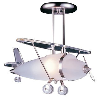 Elk Lighting Prop Plane 1-Light Satin Nickel Pendant