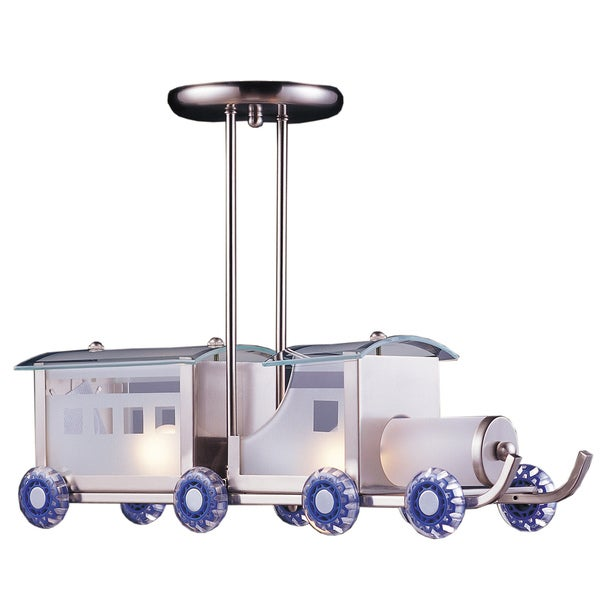 Elk Lighting Choo Choo Train 2-Light Satin Nickel Pendant