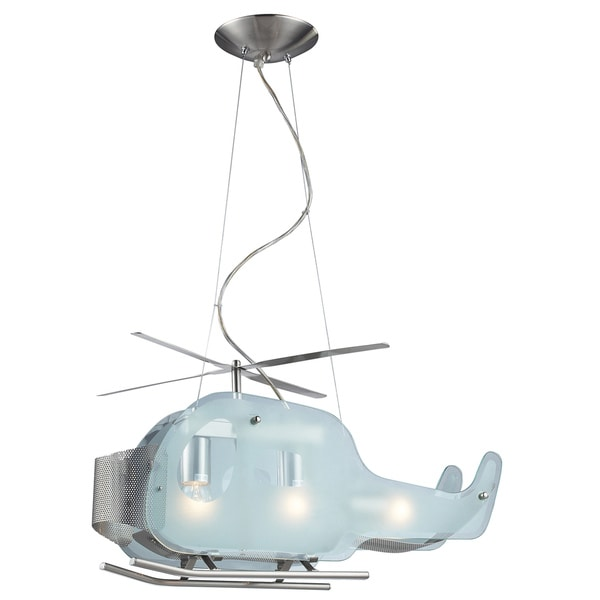 Elk Lighting Helicopter 3-Light Satin Nickel Pendant