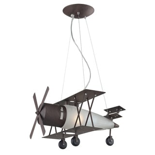 Elk Lighting Bi-Plane 1-Light Walnut Pendant