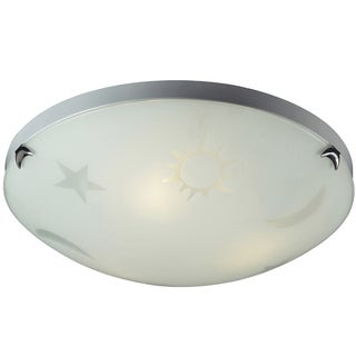Elk Lighting Night Sky 3-Light Satin Nickel Flush Mount