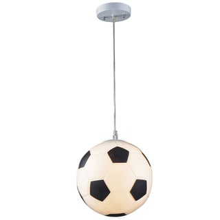 Elk Lighting Soccer Ball 1-Light White Pendant