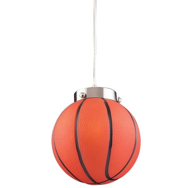 Elk Lighting Basketball 1-Light Satin Nickel Pendant
