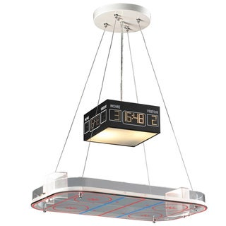 Elk Lighting Hockey Rink 2-Light White Pendant