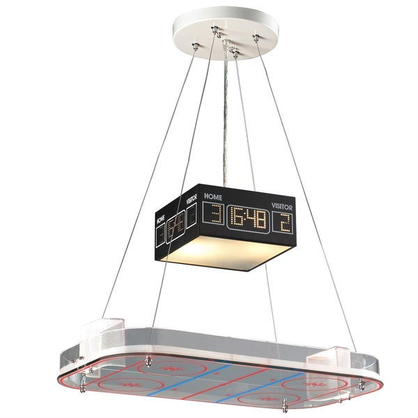 Elk Lighting Hockey Rink 2 Light White Pendant