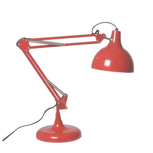 Euro Style Red Lalla Desk Lamp