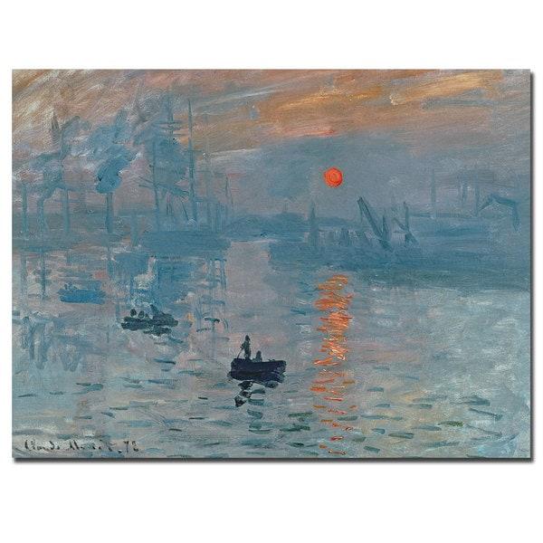 Claude Monet 'Impression Sunrise' Canvas Art