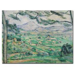 Paul Cezanne 'Montagne Sainte-Victorie' Canvas Art