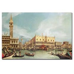 Canaletto 'The Molo, Venice' Canvas Art