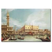 Canaletto 'The Molo, Venice' Canvas Art - Multi
