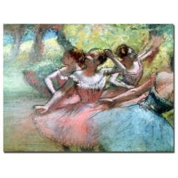 Edgar Degas 'Four Ballerinas on the Stage' Horizontal Canvas Art