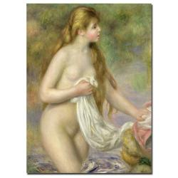 Pierre Renoir 'Bather with Long Hair, c.1895' Gallery-Wrapped Canvas Art