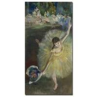 Edgar Degas 'End of an Arabesque, 1877' Canvas Art