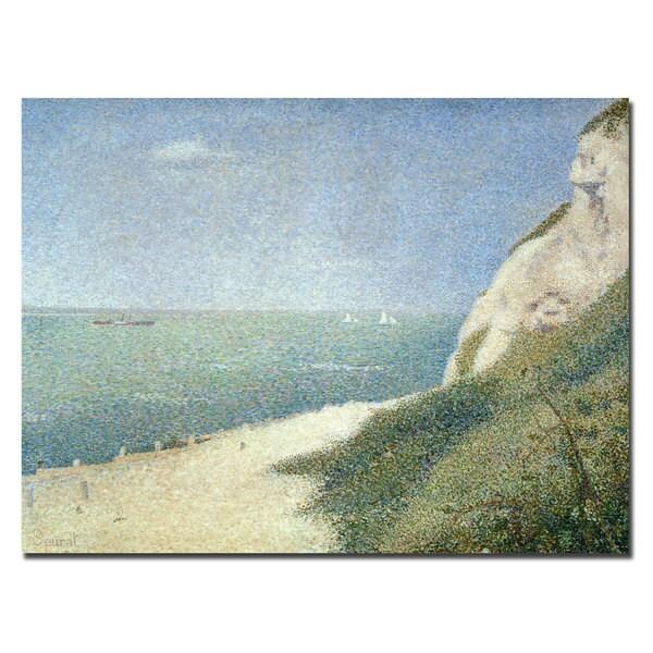Georges Seurat 'Beach at Bas Butin, Honfleur, 1886' Canvas Art