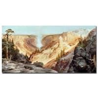 Thomas Moran 'The Grand Canyon of Yellowstone 1872' Canvas Art - Multi