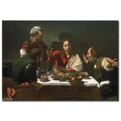 Caravaggio 'The Supper at Emmaus 1601' Canvas Art