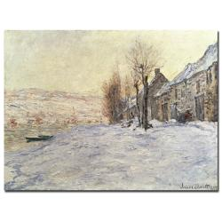 Claude Monet 'Lavacourt Under Snow 1878-81' Canvas Art