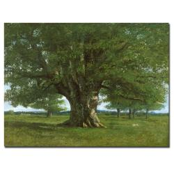 Gustave Courbet 'The Oak of Flagey' Canvas Art