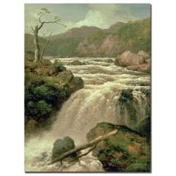 James Smith 'Waterfal on River Neath, Wales' Canvas Art