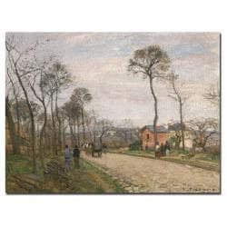 Camille Pissarro 'The Road from Louveciennes 1870' Canvas Art
