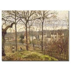 Camille Pissarro 'Winter Landscape at Louveciennes 1873' Canvas Art