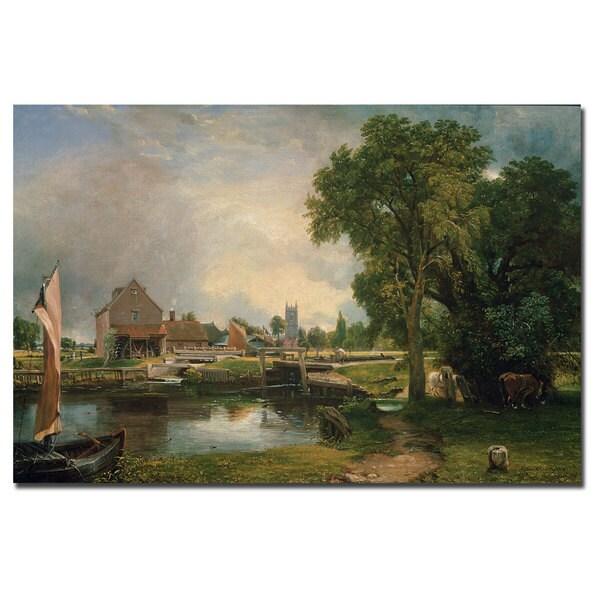 John Constable 'Dedham Lock and Mill, 1820' Canvas Art