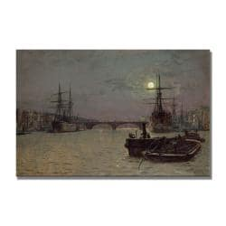 Medium John Atkinson Grimshaw 'Whitby' Canvas Art