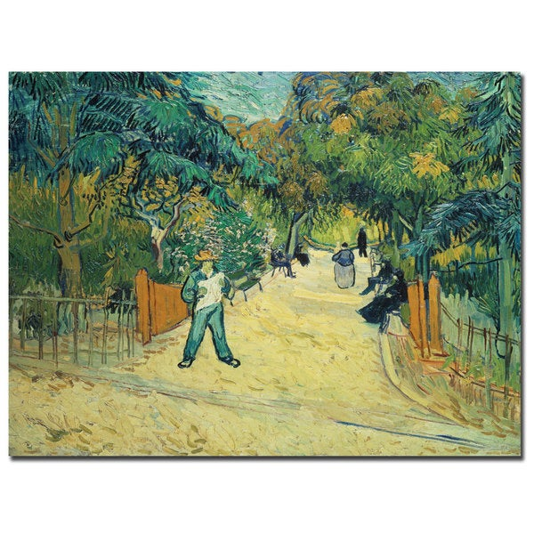 Vincent van Gogh 'Public Gardens in Arles, 1888' Canvas Art