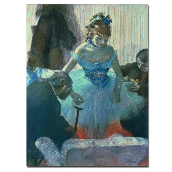 "Edgar Degas ""Dancer in her Dressing Room' Canvas Art"