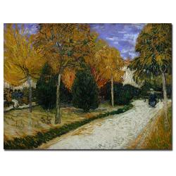 Vincent van Gogh 'Path in the Park at Arles, 1888' Canvas Art