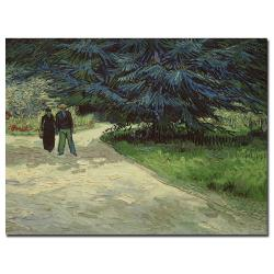 Vincent van Gogh 'Couple in the Park Arles, 1888' Canvas Art