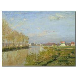 Claude Monet 'The Seine at Argenteuile, 1873' Canvas Art