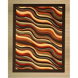 Black Contemporary Abstract Euro Home Rug (7'10 x 9'10)