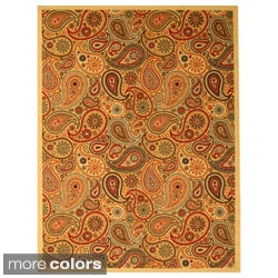 EORC Rubber Back Nylon Beige Euro Home Rug (7'10 x 9'10)