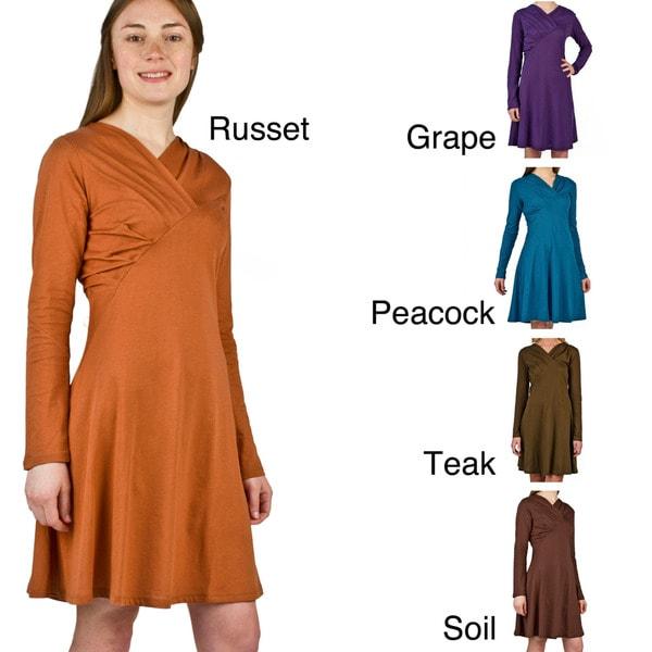 AtoZ Women's Scoop Pleated Dress