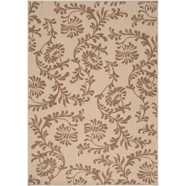 Londonderry Beige Floral Indoor/Outdoor Rug (3'6 x 5'6)
