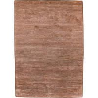 Hand-knotted Towers Brick New Zealand Wool Area Rug - 5' x 8'