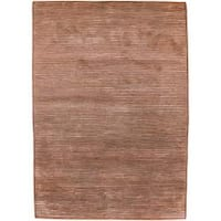 Hand knotted Acorn Brick Semi worsted New Zealand Wool Area Rug - 9' x 13'
