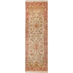 Hand-knotted Allie Gold New Zealand Wool Rug (2'6 x 8')