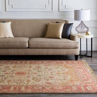 """Hand-knotted Allie Gold New Zealand Wool Area Rug - 2'6"""" x 8'"""
