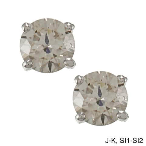 Auriya 1/2ctw Clarity-enhanced Round Diamond Stud Earrings Platinum