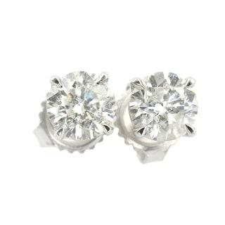 Auriya Platinum 3/4ct TDW Clarity-enhanced Diamond Stud Earrings
