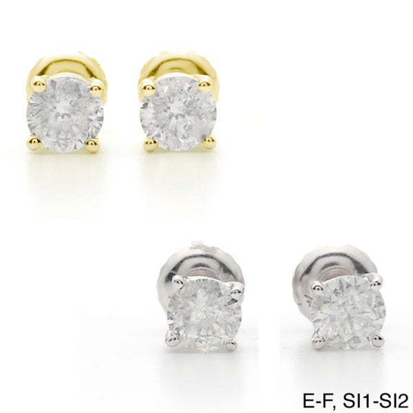 Auriya 18k Gold 2ct TDW Clarity-enhanced Diamond Stud Earrings