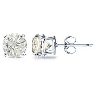 18k Gold 1 1/4ct TDW Clarity-Enhanced Diamond Solitaire Stud Earrings